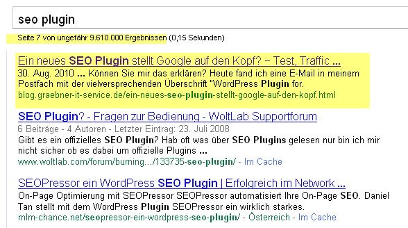 Google Abfrage SEO Plugin