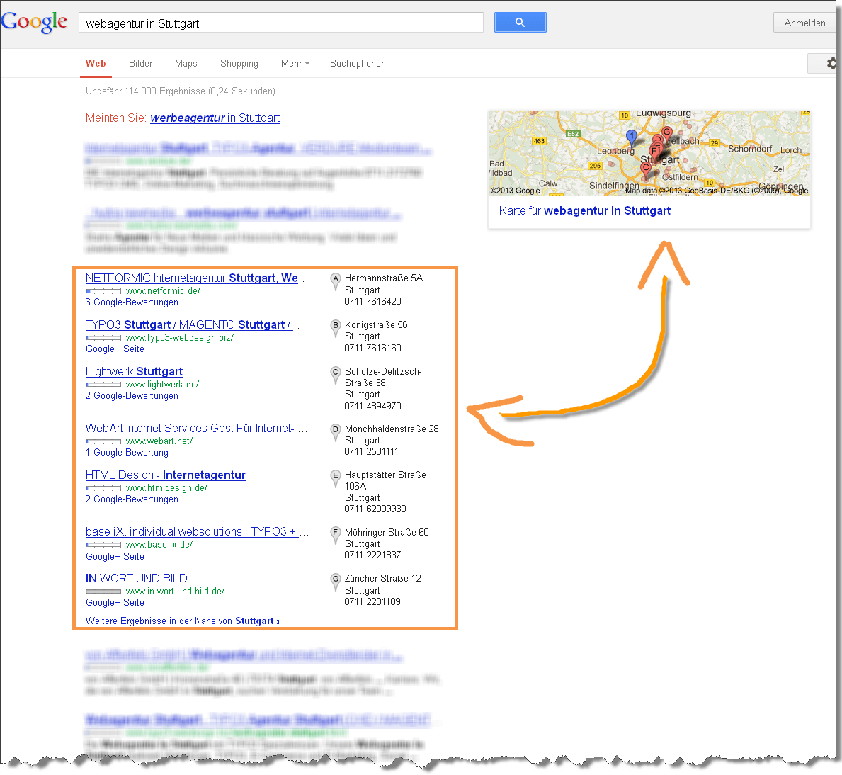 Darstellung-der-Suchergebnisse-nach-einer-Webagentur-in-Stuttgart-Details