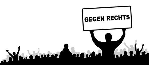 Menschen Protest gegen rechts