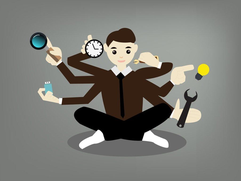 Geschäftsmann - für alles zuständig